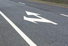 Turn Left, Go Straight Royalty Free Stock Photo
