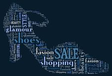 Free Wordcloud: Silhouette Of Shoes Stock Photo - 19624000