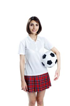 Free Girl With Ball Stock Photo - 19624390