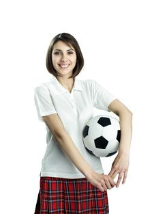 Free Girl With Ball Royalty Free Stock Photo - 19624395