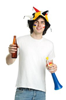 Free Beer And Trumpet Stock Photography - 19624412