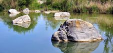 Free Rocks Scattered In The Lake Water Stock Photos - 19624523