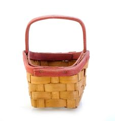 Free Small Wooden Basket Isolated Stock Image - 19624591