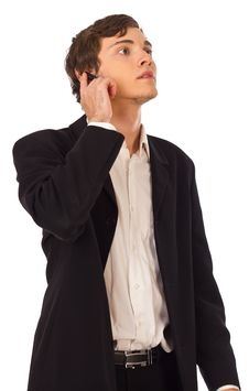 Free Young Business Man With Headset Royalty Free Stock Photos - 19624678