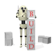 Free Robot With Building Blocks Stock Photography - 19624842
