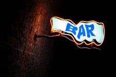 Free Neon Sign Bar Royalty Free Stock Images - 19625779