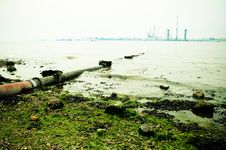 Free View Of Industrial River Royalty Free Stock Photo - 19625845