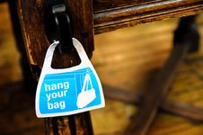 Free Hang Your Bag, Sign Royalty Free Stock Photos - 19626148