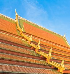 Roof Of The Temple Stock Photography