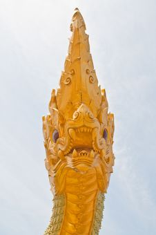 Free Head Of Big Naga Statue Stock Photos - 19628523