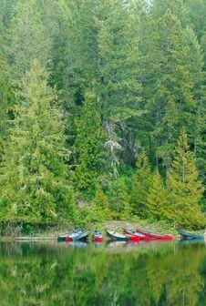 Canadian Canoes Royalty Free Stock Photos