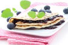 Free Filled Pancake Stock Photography - 19628602