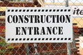 Free Construction Entrance Sign Royalty Free Stock Photography - 19633877
