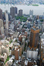 Free Midtown Manhattan Aerial View Royalty Free Stock Photos - 19634548