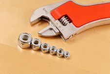 Free Row Of Bolt Head Fasteners Stock Photography - 19630022