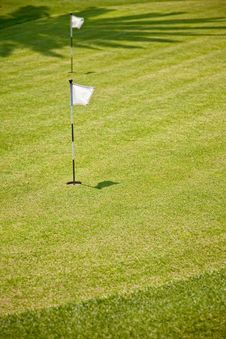 Free Golf Putting Green And Flag Royalty Free Stock Photography - 19630627