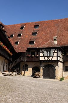 Old Palace In Bamberg Stock Photo