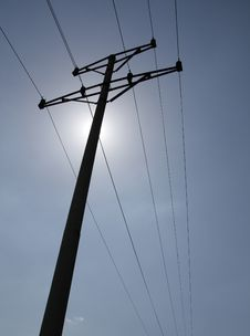 Power Poles Royalty Free Stock Photos