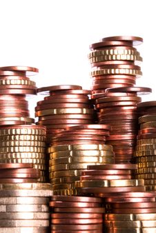 Free Coin Piles Royalty Free Stock Photo - 19631985