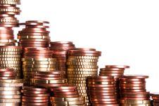 Free Coin Piles Stock Photo - 19632090