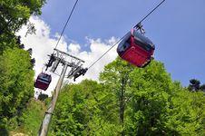 Ski Cabin Lift Royalty Free Stock Image