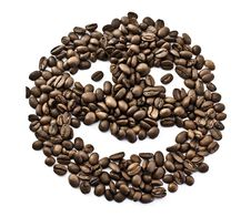 Free Smiley From Coffee Beans Royalty Free Stock Photography - 19632197