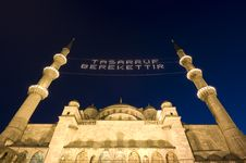 Free The Night View Of Blue Mosque, Istanbul-Turkey Stock Image - 19632301