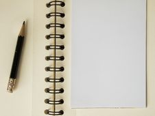 Free White Note Paper And Black Pencil Stock Images - 19632684