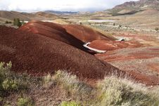 Boardwalk In The Painted Hills. Royalty Free Stock Image
