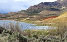 Free Reservoir At Painted Hills. Stock Photography - 19633312