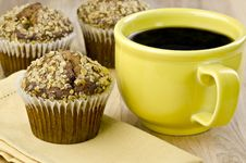 Free Bran Muffins And Coffee Royalty Free Stock Image - 19634086