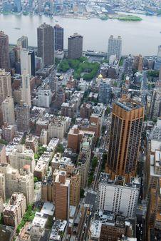 Free Midtown Manhattan Aerial View Royalty Free Stock Photos - 19634548