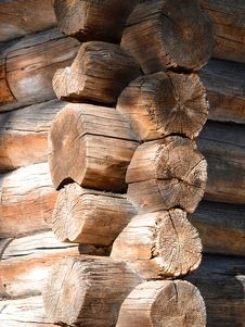 Log House Corner Royalty Free Stock Photo