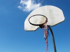 Free Used Basketball Net Royalty Free Stock Photos - 19634988