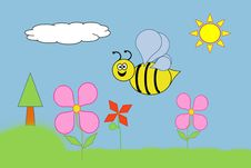 Free Happy Bumble Bee Royalty Free Stock Image - 19635526
