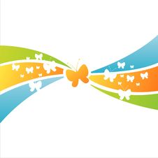 Free Colorful Butterfly Background Stock Images - 19636844