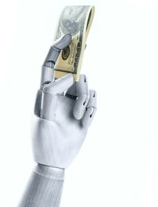 Free A Steel Hand With Dollars Royalty Free Stock Photos - 19637508