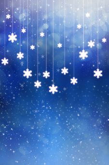 Free Snowflake Blue Background Stock Photos - 19637983