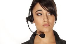 Free Call Centre Woman Stock Photo - 19637990