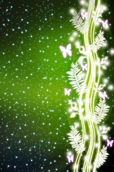 Free Abstract Butterfly Flower Light Background Stock Photo - 19638000