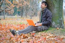 Free Man In The Park Royalty Free Stock Photography - 19638187