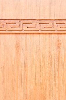 Free Carving Wood On Wooden Wall Royalty Free Stock Photography - 19638947