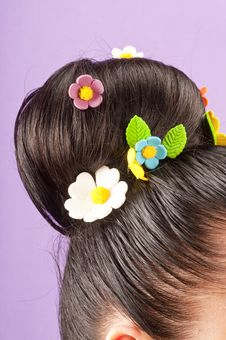 Free Beauty  Hairstyle With Candy Stock Image - 19639211