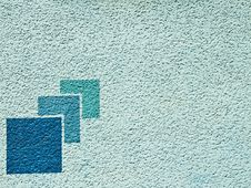 Free Aqua Blue Paint Wall With Pattern Stock Photography - 19639322