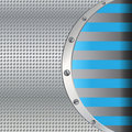 Free Metal Background With Blue Lines Stock Photo - 19641500