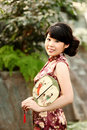 Free A Girl With A Fan Royalty Free Stock Photography - 19647787