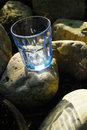Free Glass Blue Transparent Stone Empty Royalty Free Stock Photography - 19649927