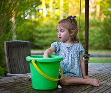 Table Bucket Stock Photography