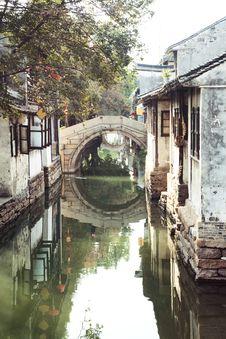 Free Suzhou Canal Royalty Free Stock Photos - 19641078