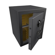 3d Metal Safe With Gold Bullion